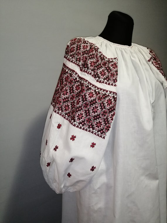 Vintage traditional Ukrainian embroidered dress Vy