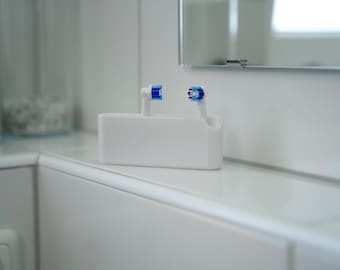 Toothbrush holder customizable, holder for electric toothbrush, 3D print, suitable for all brushes, sustainable