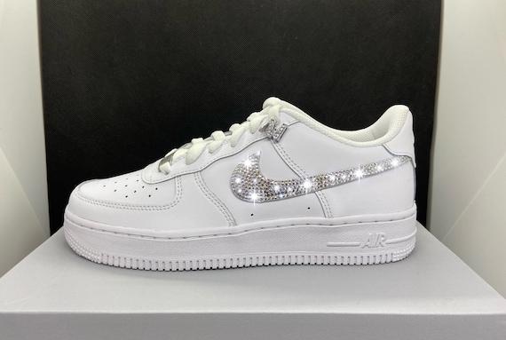 Nike Air Force White Rhinestone Swarovski Glitter Stone Custom | Etsy
