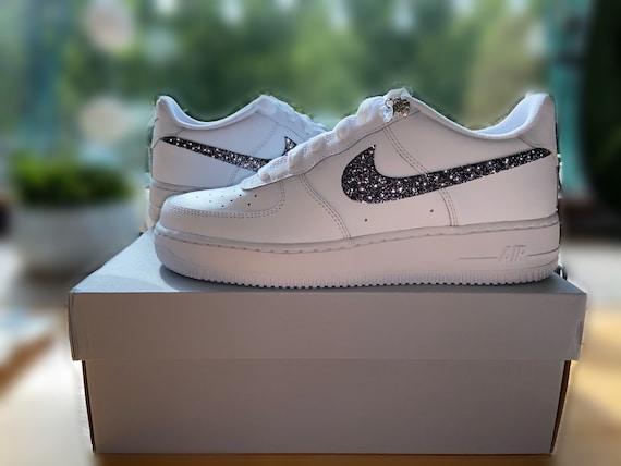 Nike Air Force blanc paillettes paillettes couleur custom   Etsy