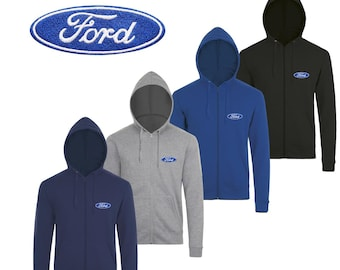 Men/'s Ford Genuine Parts V8 Mask Hoodie Sweater Built Tough F150 Trucks Mechanic