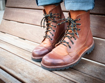 ARPEJ trails - BOOTS, leather boots, laces, customizable, artisanal, handmade in France
