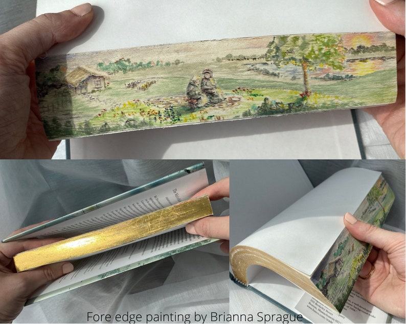 Custom Fore Edge Painted Book Hand Painted Book one of a image 0