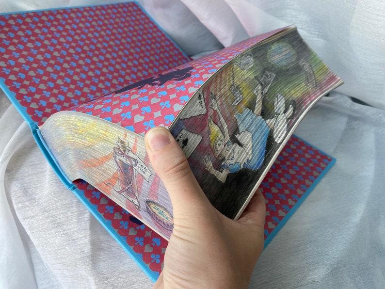 Alice in Wonderland Book Fore Edge Painting Vanishing image 0