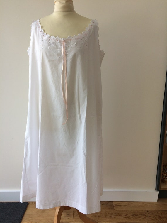 Antique French embroidered nightdress