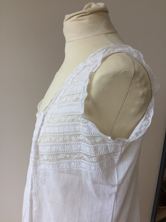 Antique French lace and lawn nightdress