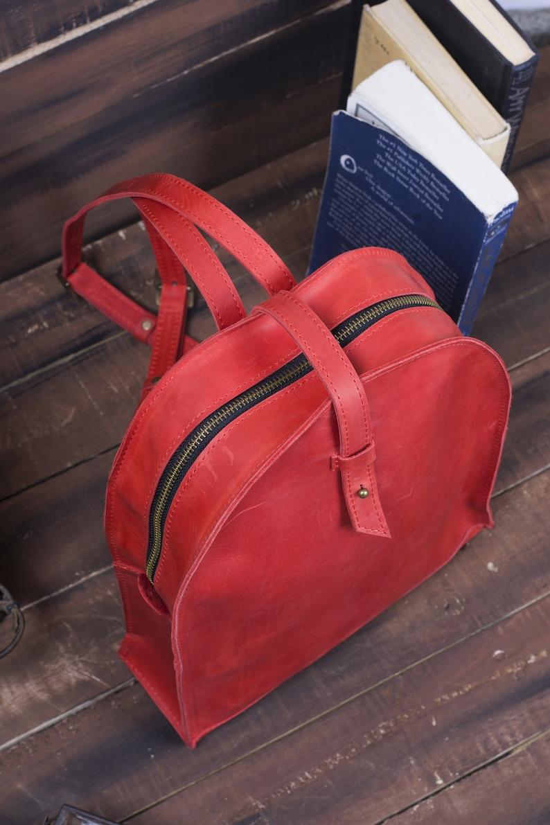 Light Grey Backpack Genuine Leather Woman Rucksack Small City Travel Backpack Grey Bag Girlfriend Birthday Gift Luxury Bag