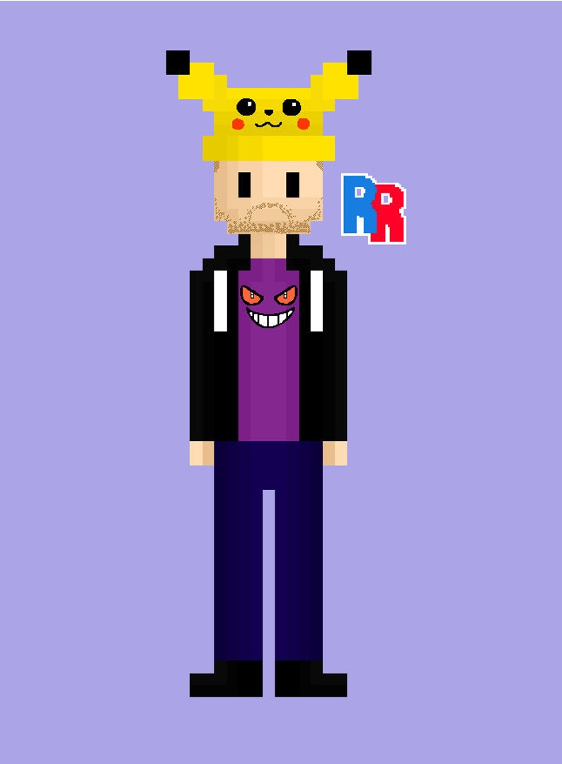 Pixel Art Commission  Caricature Drawing image 0