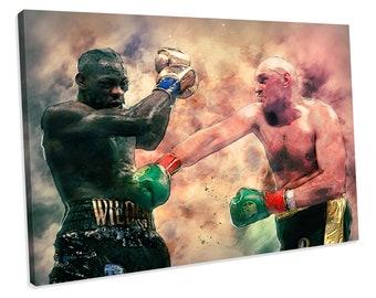 TYSON FURY vs Deontay Wilder BoxingCanvas Print Wall Art Photo5 Sizes