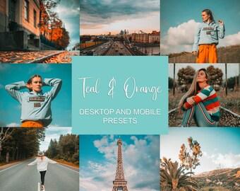Lightroom Mobile Presets, Teal & Orange, Instagram Filter, Blogger Presets, VSCO Filter, iPhone Presets, Lightroom Presets