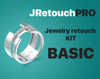 Jewelry retouching kit BASIC / Jewelry Clipart / Shadow / Ring shank / Stud locks / Gems / Locks for pendants and chains/ Head / Size chart