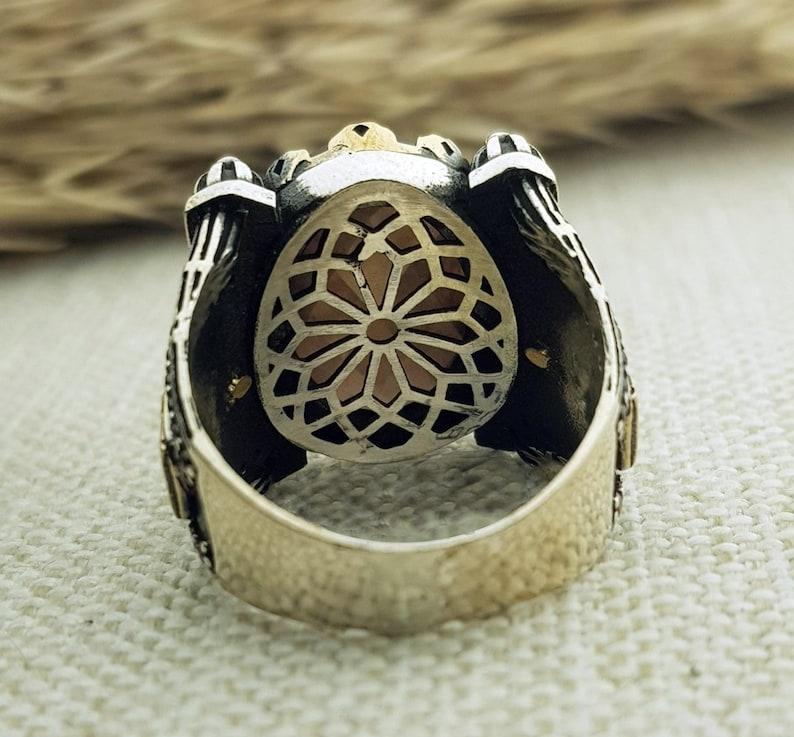 Mens Zultanite Stone Mosque /& Minaret Design Silver Ring Islamic Jewelry Gift for Him Turkish Handmade Silver Men Mosque Sultan Ring