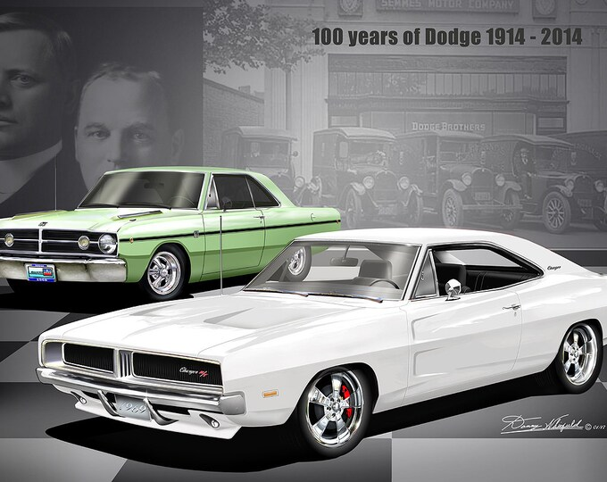 Dodge Plymouth Mopar Reunion art prints  comes in 10 different editions