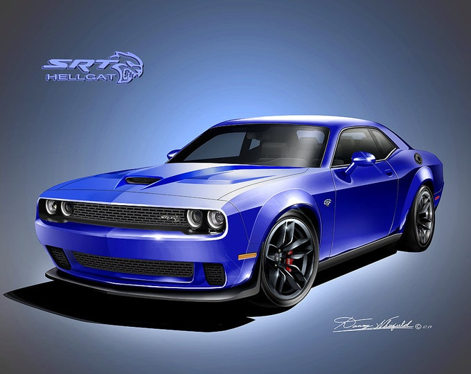 2018 Dodge Challenger Art Prints  comes in 9 different exterior colors