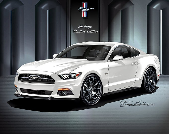 2015 Mustang Gt art prints comes in 9 different exterior color