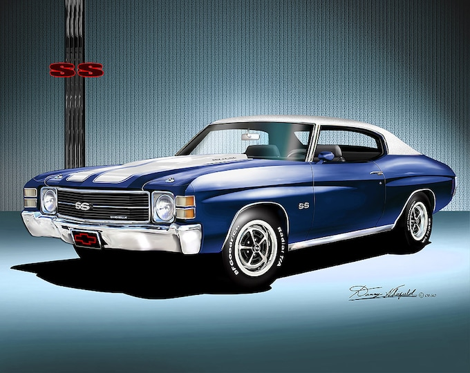1971 Chevelle Art Prints comes in 8 different colors