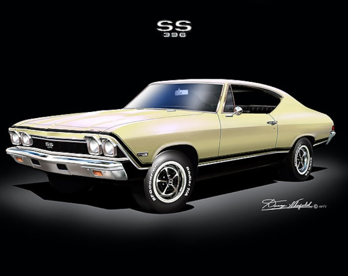 1968 Chevelle Art Prints comes in 6 different colors