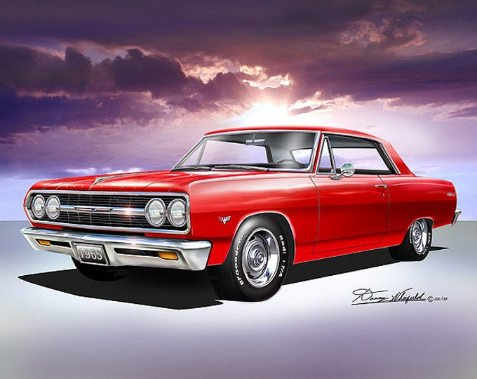 1965 Chevelle Art Prints comes in 10 different colors