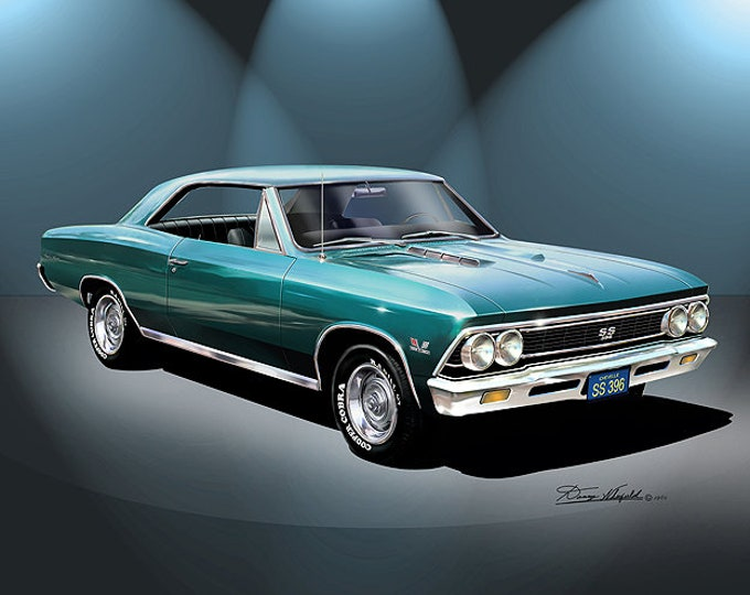 1966 Chevelle Art Prints comes in 6 different colors