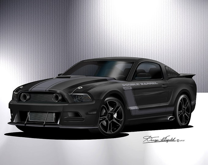 Mustang Art Prints custom Whitfield Edition comes in 6 different styles