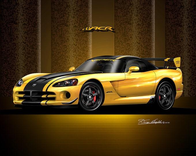 2005- 2008 Dodge Viper art prints comes in 8 different colors