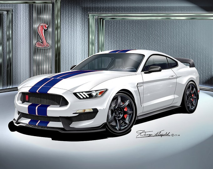 2015-2016 Mustang Shelby Art Prints comes in 9 different exterior color
