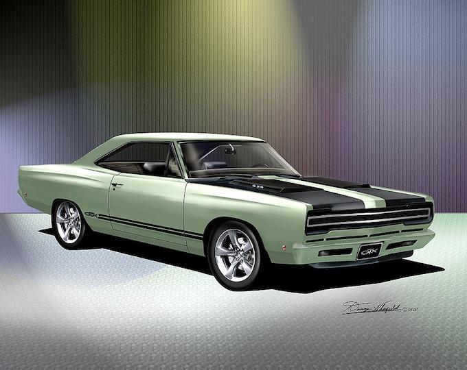 1968 Custom Plymouth GTX Detonator Edition  - Art Prints