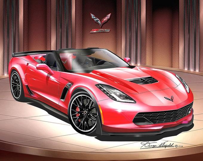 2014-2019 Corvette Z06 Art Prints  comes in 10 different exterior colors