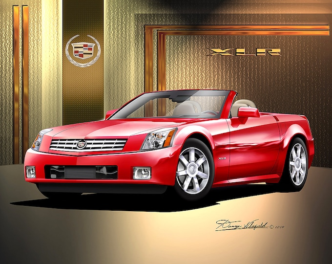 2004 Cadillac XLR art prints  comes in 6 different exterior colors