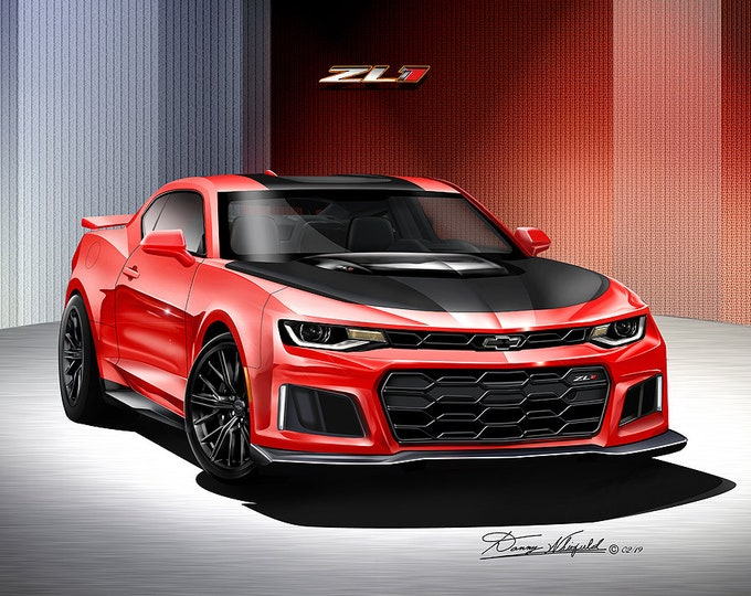 2018 Chevy Camaro ZL1 Art Prints comes in 8 different exterior colors