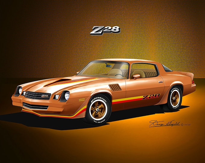1978-1979 Chevrolet Camaro Art Prints comes in 8 different exterior colors