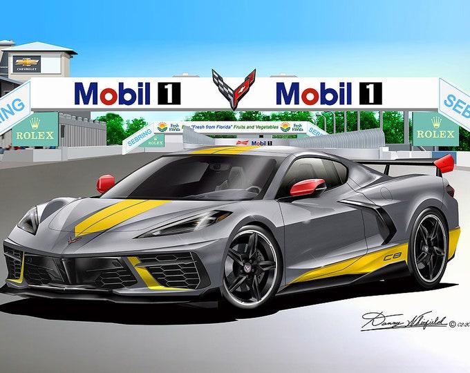 2020 Corvette C8R Art Print