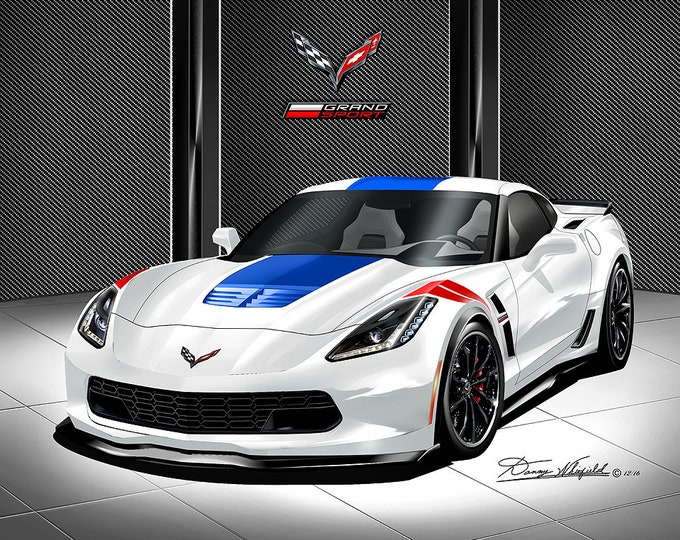 2019 Corvette Grand Sport Art Prints comes in 9 different exterior colors