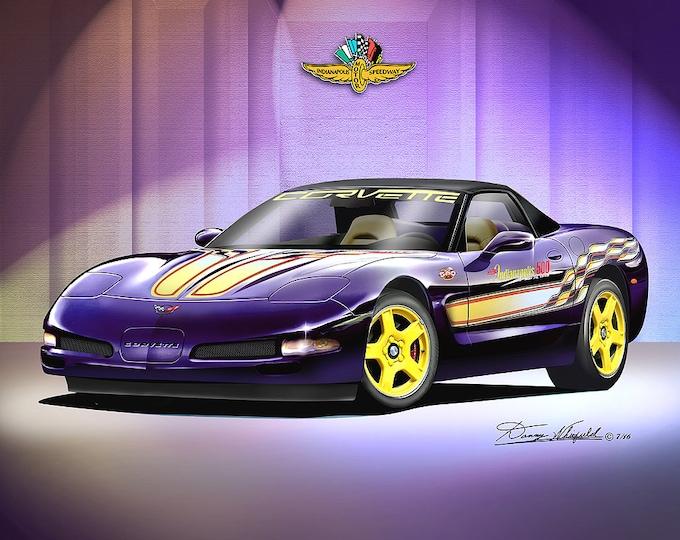 1998 Corvette Indy pace car art print