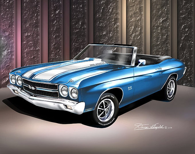 1970 Chevelle Convertible Art Prints comes in 6 different colors