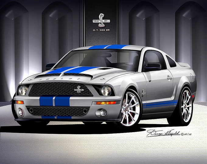 2007-2008 Mustang Shelby Art Prints  comes in 6 different exterior color
