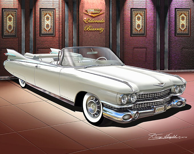 1959 Cadillac Eldorado art prints  comes in 8 different exterior colors