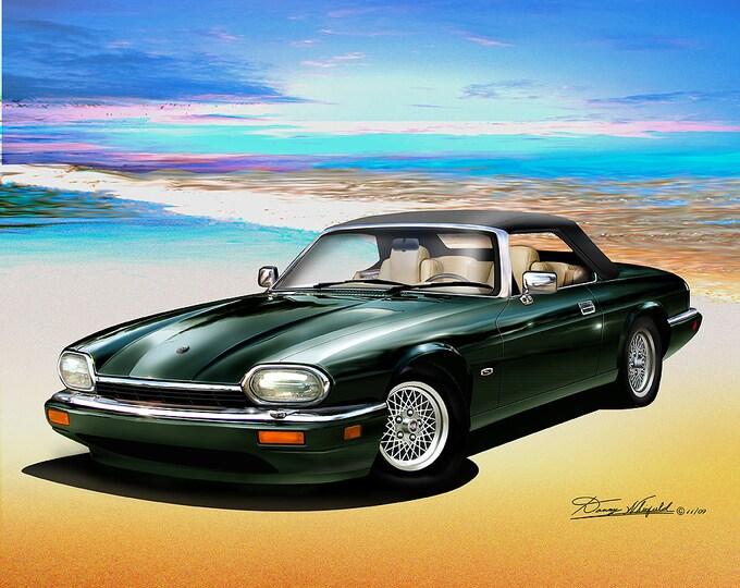 1994 Jaguar XJS art prints comes in 6 different colors