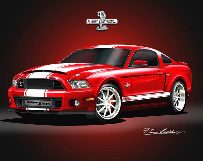 2013-2014 Mustang Shelby Art Prints comes in 8 different exterior color