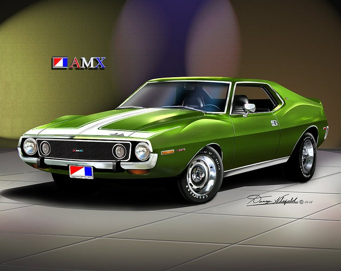 1974 Amc Javelin Art Prints  comes in 9 different exterior colors