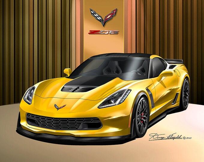 2014-2019 Corvette ZO6 art prints comes in 8 different exterior colors
