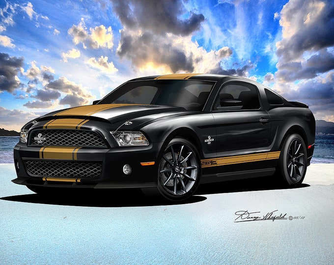 2011-2012 Mustang Shelby Art Prints  comes in 8 different exterior color