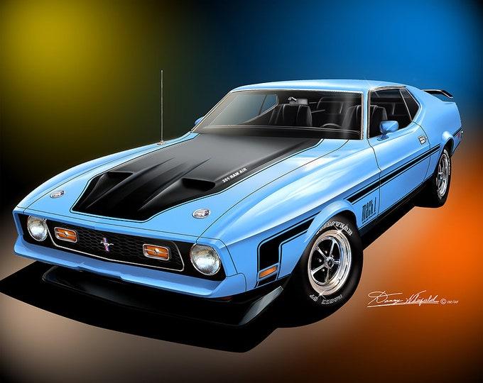 1971-1972 Mustang Mach-1 Art Prints