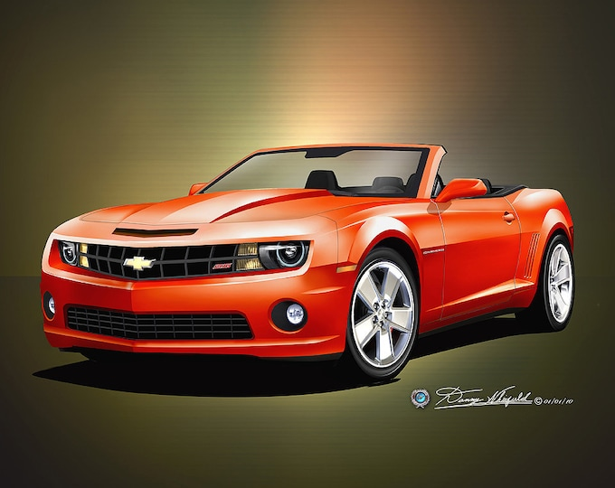 2010-2011 Camaro Convertible Art Prints comes in 6 different exterior colors