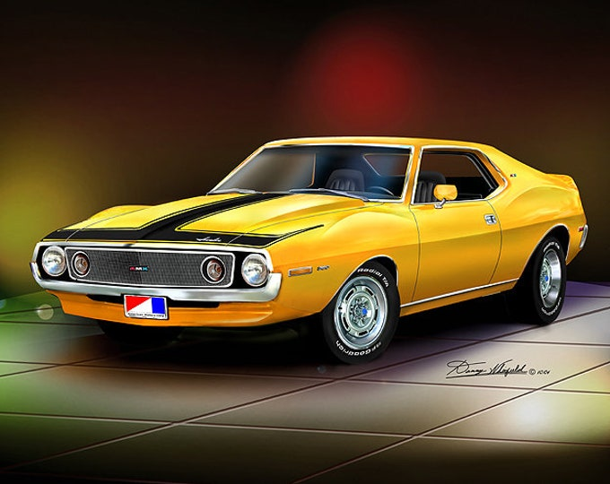 1971-1973 Amc Javelin Art Prints  comes in 9 different exterior colors