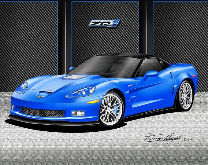 2012 Corvette ZR1 art prints comes in 9 different exterior colors