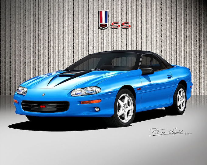1998-2002 Chevrolet Camaro Art Prints comes in 8 different exterior colors