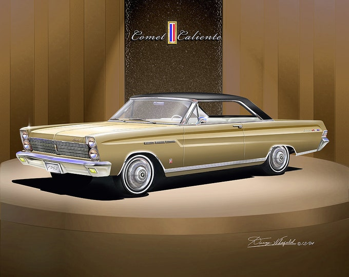 1965 Mercury Comet art prints comes in 4 different styles