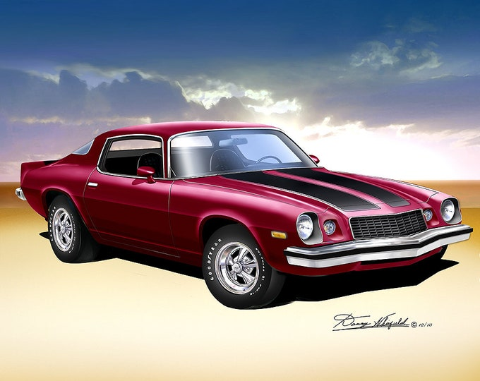 1976 Chevrolet Camaro Art Prints comes in 6 different exterior colors