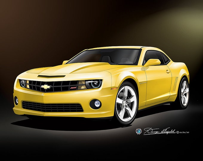 2010-2011 Chevrolet Camaro Art Prints comes in 8 different exterior colors